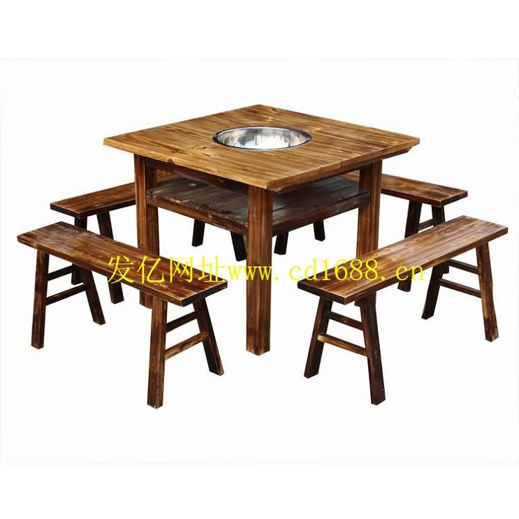 实木火锅桌 - 火锅桌 - 火锅桌 - 火锅餐桌|快餐桌椅图片