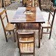 火烧木火锅餐桌椅定做