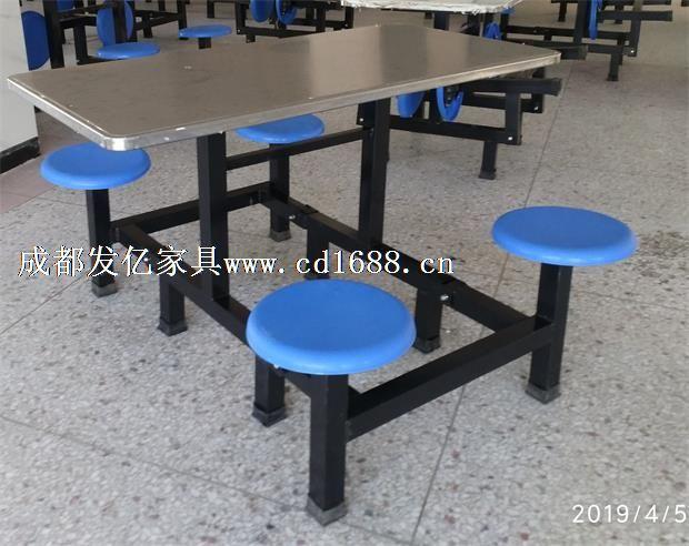 四角圆边桌面食堂餐桌