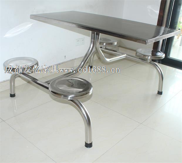 不锈钢圆管快餐桌椅